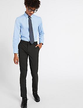 Senior Boys' Super Skinny Leg Trousers, CHARCOAL, catlanding