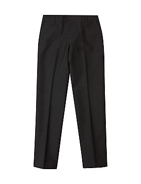 Boys' Longer Length Supercrease™ Trousers, CHARCOAL, catlanding