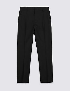 Senior Boys' PLUS Skinny Leg Trousers, BLACK, catlanding
