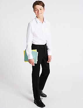 Senior Boys' Chino Trousers, BLACK, catlanding