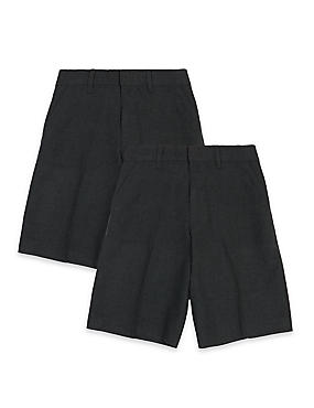2 Pack Boys' Adjustable Waist Shorts with Stain Resistance™ & Triple Action Stormwear™