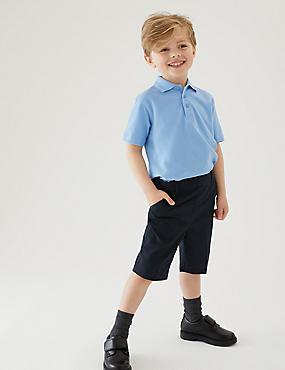 2 Pack Boys' Skinny Leg Shorts, NAVY, catlanding