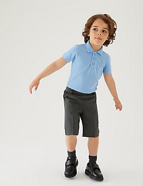 2 Pack Boys' Skinny Leg Shorts, GREY, catlanding