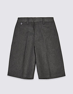 Boys' Pleat Front Adjustable Waist Shorts with Triple Action Stormwear™