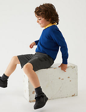 2 Pack Boys' Slim Leg Shorts, GREY, catlanding