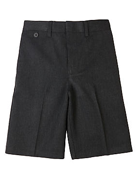 Boys' Crease Resistant Slim Leg Shorts with Triple Action Stormwear™