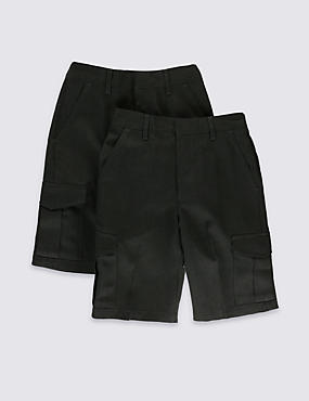 2 Pack Boys' Shorts with Crease Resistant