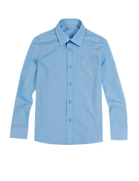 2 Pack Boys' Easy to Iron Long Sleeve Shirts