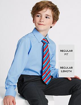 2 Pack Boys' Ultimate Non-Iron Shirts, BLUE, catlanding