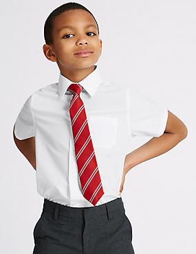 2 Pack Boys' Easy to Iron Shirts, WHITE, catlanding