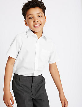2 Pack Boys' Non-Iron Shirts, WHITE, catlanding