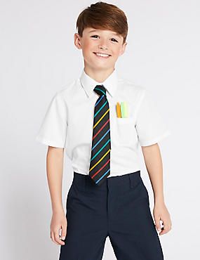 2 Pack Boys' Longer Length Ultimate Non-Iron Shirts