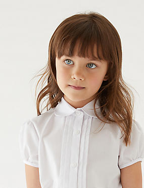 2 Pack Girls' Blouses, WHITE, catlanding