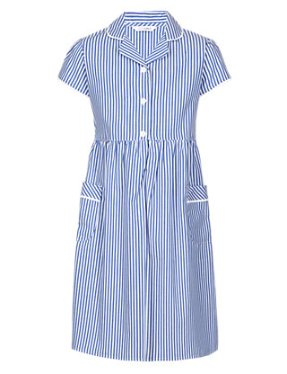 Pure Cotton Easy to Iron Striped Dress Clothing
