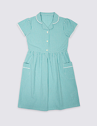 Skin Kind™ Pure Cotton Summer Gingham Checked Dress Clothing