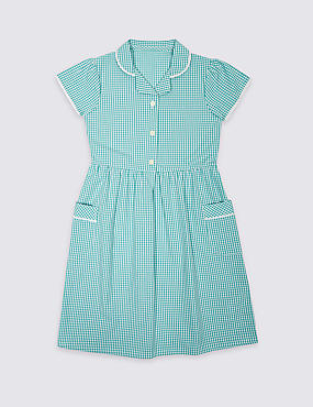 Skin Kind™ Pure Cotton Summer Gingham Checked Dress