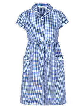 Plus Fit Classic Summer Gingham Checked Dress
