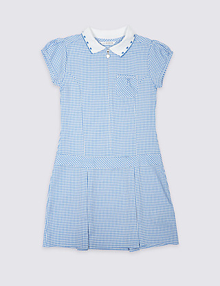 Girls' Pleated Gingham Dress Clothing