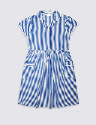 Girls' Classic Summer Striped Dress Clothing