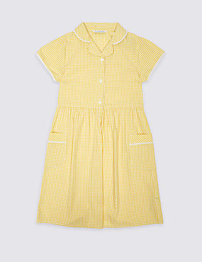 Classic Summer Gingham Check Dress