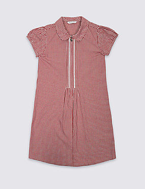 Girls' Easy to Iron Pure Cotton Dress