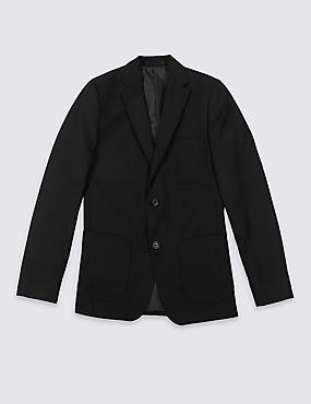 PLUS Senior Boys' Blazer, BLACK, catlanding