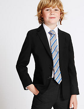 Junior Boys' Blazer, BLACK, catlanding