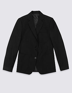 Girls' Longer Length Adjust a Cuff Crease Resistant Blazer with Triple Action Stormwear™