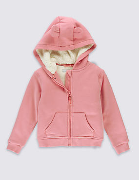 Cotton Rich Lined Hooded Top (3 Months-5 Years)