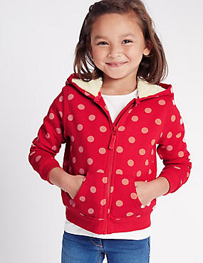 Cotton Rich Lined Hooded Top (1-5 Years)