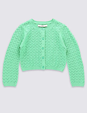 Pure Cotton Crochet Cardigan (1-10 Years)