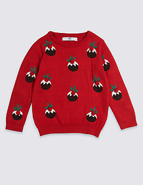 Cotton Rich Christmas Pudding Jumper (3 Months - 3 Years)