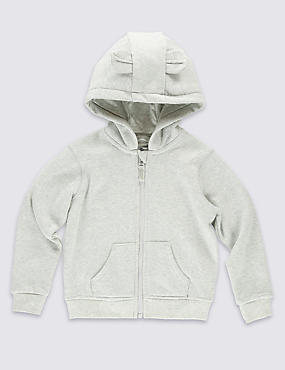 Zipped Through Hooded Top (3 Months - 5 Years)