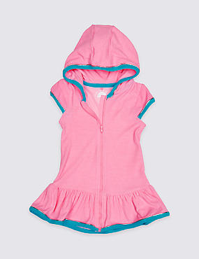 Towelling Hooded Dress (3 Months - 7 Years)