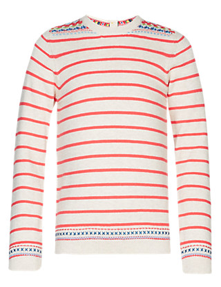 Pure Cotton Striped Jumper Clothing