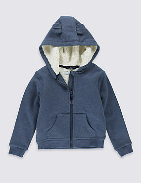 Cotton Rich Hooded Sweatshirt (3 Months - 5 Years)