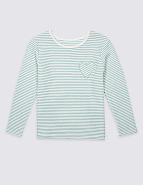 Cotton Rich Striped Long Sleeve Top (3 Months - 5 Years)