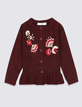 Frill Embroidered Cardigan (3 Months - 6 Years)