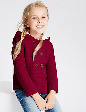 Pure Cotton Hooded Cardigan (1-7 Years)