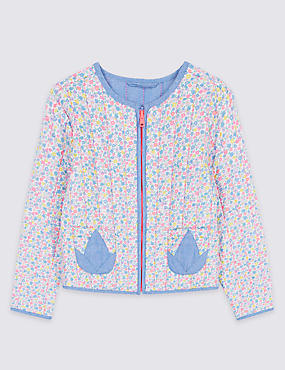 Pure Cotton Zip Through Jacket (3 Months - 7 Years)