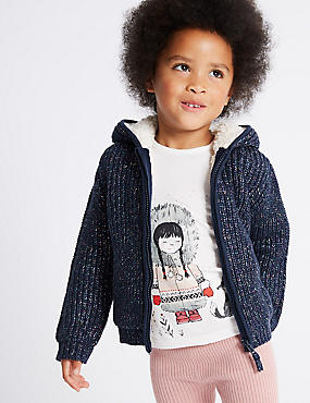 Cotton Rich Pom-pom Hooded Top (3 Months - 6 Years)