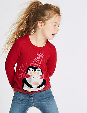 Penguin Christmas Jumper (3 Months - 5 Years)