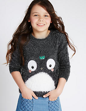 Penguin Eyelash Jumper (1-7 Years)