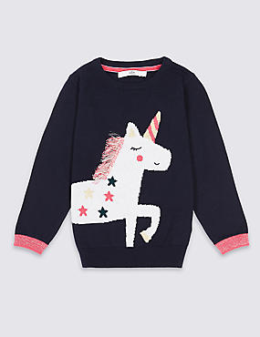 Cotton Rich Unicorn Jumper (3 Months - 6 Years)