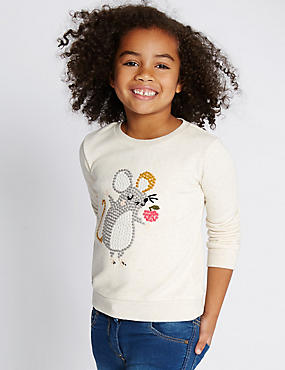 Long Sleeve Animal Print Jumper (1-7 Years)