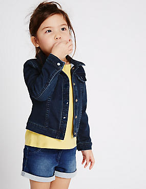 Girls Blue Jackets & Coats | Navy & turquoise Kids Jacket | M&S