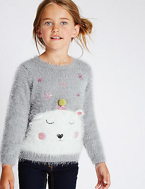 Long Sleeve Polar Bear Jumper (1-7 Years)