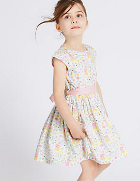 Pure Cotton Peppa Pig™ Dress with Belt (1-5 Years)