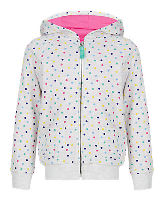 Spotted Hooded Top (1-7 Years) Clothing