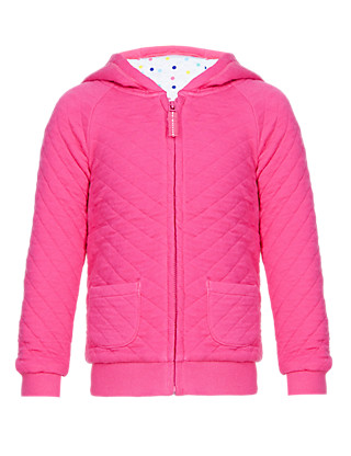 Cotton Rich Quilted Hooded Top (1-7 Years) Clothing